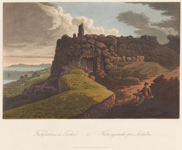 NOR anvendt Fredriksodde, Larkollen, NOR original Fæstningsværker paa Larkullen, ENG original Fortifications at Larkoul